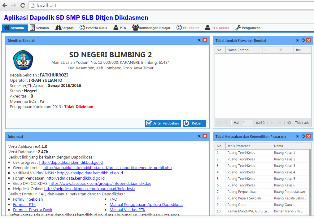 Download Dapodik versi 4.1.0